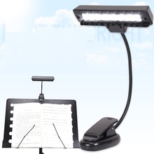 10 LED White Reading Kindle Orchestral Sheet Music Stand light Lamp + USB Cable