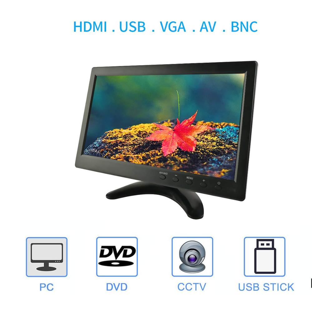 Image 2 - 10.1 Inch IPS HDMI Capacitive Touch Screen 1280x800 LED Monitor for PS3 4 Windows 7 8 10 VGA/AV USB Computer LED PC Car Display-in LCD Monitors from Computer & Office