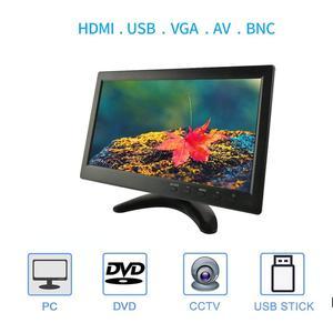 Image 2 - 10.1 Inch IPS HDMI Capacitive Touch Screen 1280x800 LED Monitor for PS3 4 Windows 7 8 10 VGA/AV USB Computer LED PC Car Display