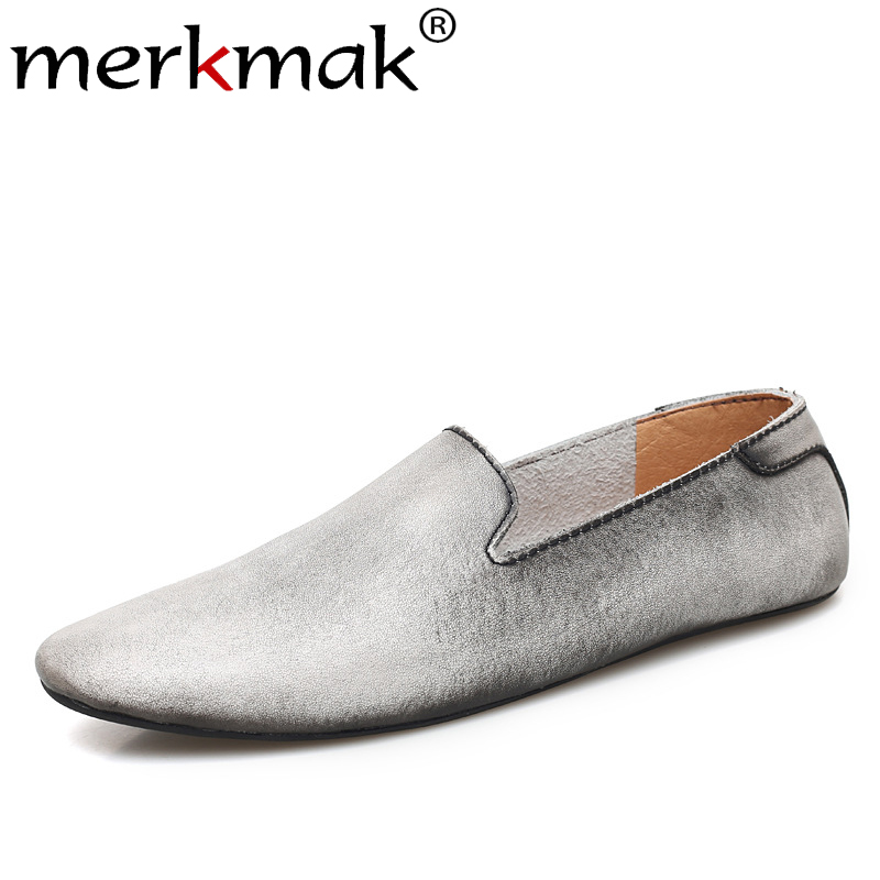 Shoes Flats Driving-Footwear Autumn Big-Size Casual Fashion New Merkmak Pointed-Toe British-Style