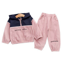 2019 Autumn Children Baby Clothes Kids Boys Girls Letter Patchwork Hooded Jackets Pants Sets Toddler Clothing Infant Tracksuits kids tracksuits 2018 new autumn boys clothes sets letter printed hoodies