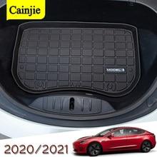 Tappetino bagagliaio per bagagliaio anteriore per auto impermeabile per Tesla modello 3 2017 2018 2019 2020 2021 tappetino per tappetino per carico s