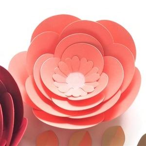 Image 5 - DIY przedszkole ścienne papier dekoracyjny kwiaty liście zestaw na urodziny tła rękodzieło dekoracyjne kwiat sztuka wystrój w stylu Boho w kwiaty przedszkole
