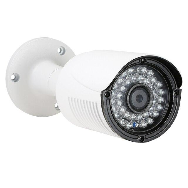 Caméra de vidéosurveillance extérieure IP POE H.265 Onvif 8MP 4K, en métal blanc, Vision nocturne IR, 4MP 3