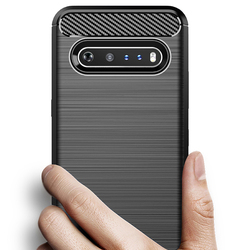 На Алиэкспресс купить чехол для смартфона for lg v60 thinq k50s q70 carbon fiber cover phone case bumper case full protection phone cover shockproof bumper