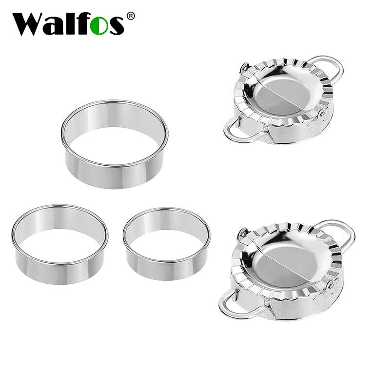 WALFOS 5pcs Stainless Steel Dumpling  Tool Set  Dumpling Press And Cutter Dumpling Mold