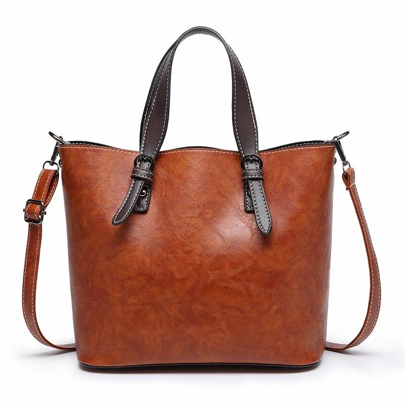 Женская сумка-мессенджер Tinkin, винтажная кожаная сумка через плечо в ретро стиле