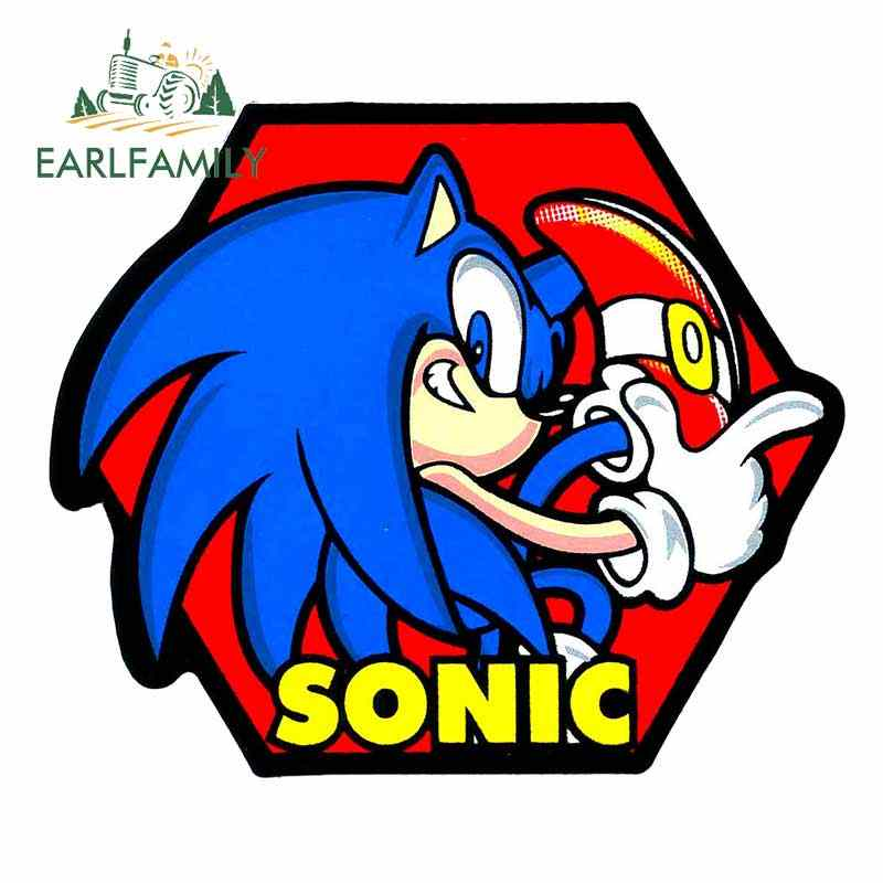Earlfamily 13cm X 10 9cm For Sonic Hedgehog Fine Decal Waterproof Scratch Proof Sticker Vinyl Car Wrap Car Accessories Aliexpress