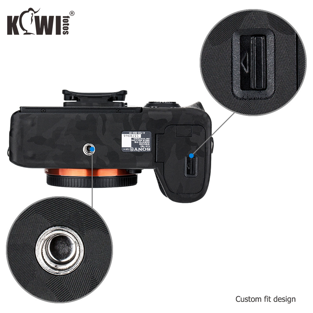 Camera Body Sticker Protective Skin Film Kit For Sony A7 III A7R III A7III A7RIII A7M3 A7R3 Anti-Scratch 3M Sticker Shadow Black