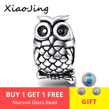 Cute owl charm beads jewelry making 925 Silver charms Fit Authentic pandora charm bracelet beads DIY Jewelry Making for gifts цена