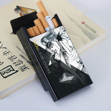 Criativo legal anime destino zero jojo bizarro aventura kujo jotaro cos adereços animação liga de alumínio metal cigarro caso