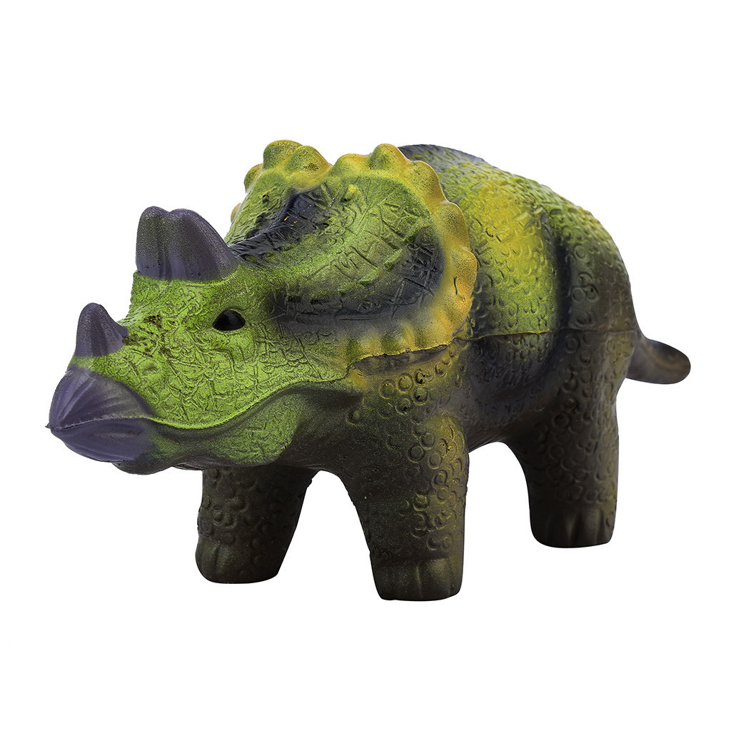 Simulation Soft Triceratops Slow Rising Collection Stress Reliever Toy Children's Home Decoration Funny Soft Squeeze Fun Toys #B