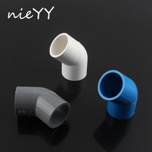 2pcs 25mm PVC 45 Degree Elbow Connector Water Tank Pipe Joint Fish Aquarium Supplies Garden Irrigation Tube Accessory