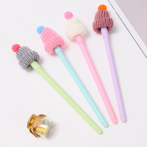 2 pcs Gel Pens Cartoon hat bla