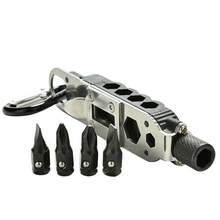 Mini destornillador multifuncional para exteriores, llavero EDC, herramienta de reparación de acero inoxidable portátil, envío directo