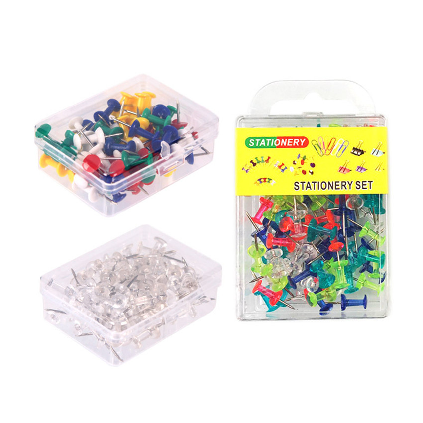 40pcs/set Mini Colored Pushpin Wall Photo Message Drawing Pin Thumbtacks Map Marking Thumb Tack For Home Office Supplies Tools