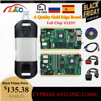 2019 peut couper avec CYPRESS AN2135SC/2136SC pleine puce V193 or carte PCB Auto A + OBD2 Interface diagnostique
