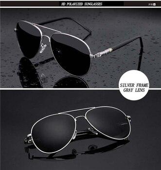 Aviation Metail Frame Quality Oversized Spring Leg Alloy Men Sunglasses Polarized Brand Design Pilot Male Sun Glasses Driving - 1
