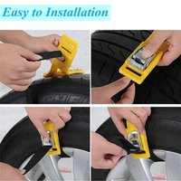 Car Tyre Winter Roadway Safety Tire Snow Adjustable Anti skid Safety Double Snap Skid Wheel TPU Chains