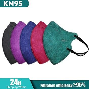 mascarillas fpp2 Colors Black ffp2mask KN95 FFP2 Facial Mask Protective Face Masks ffp2reutilizable mascarilla fpp2 homologada 1