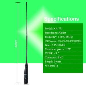 Image 5 - 100% Original Nagoya NA 771 BNC Antenna 144/430Mhz Walkie Talkie Antenna For IC V8 IC V82 IC V85 TK308 Two Way Radio