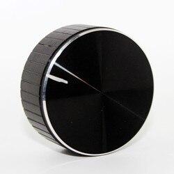 Aluminio + potenciómetro con perilla de plástico, botón para altavoz, botón de Control de volumen, botón de Audio de 48x20mm