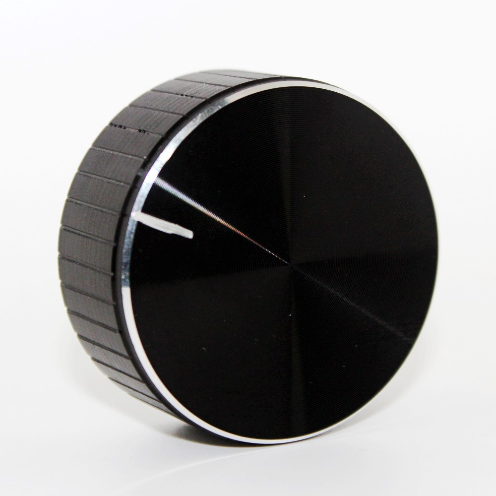 Aluminum + Plastic Knob Potentiometer Knob Cap Speaker Volume Control Knob Audio Knob 48x20mm