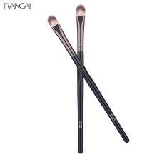 Rancai profissional 1 pçs pincéis de maquiagem sombra escova eyeliner pálpebra lábio compõem escova de cabelo sintético corretivo escova