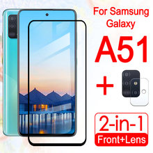 For Samsung A51 Case Galaxy A 51 Phone Cover shell phone cases Screenprotector Glas With Camera Lens Protector 2in1