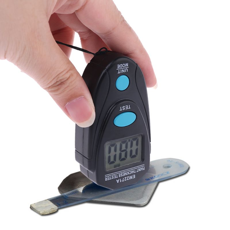 EM2271A Digital Fe/NFe 0.00-2.20mm Thickness Tester Car Auto Paint Coating Gauge A5YD