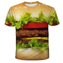 3D printed children boys and girls funny t shirts , summer cartoon beer burger food T-shirt