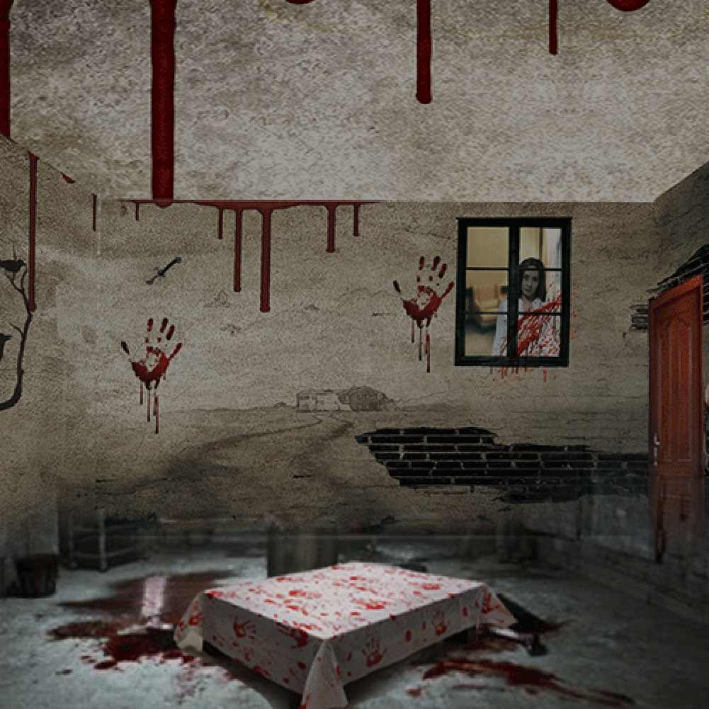 Originele 1PC 130*260cm Halloween Blood Print Tafelkleden Horror Halloween Party Decor Spookhuis Rekwisieten Tafel Covers matten