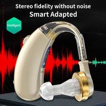 Xionglu aparelho auditivo para idosos surdos condução de ar sem fio fones de ouvido perda auditiva amplificador de som próteses auditivas dropshipping