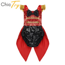 Circus Costume Outfit Birthday-Theme Halloween Cosplay Party Ringmaster Romper Baby-Girls