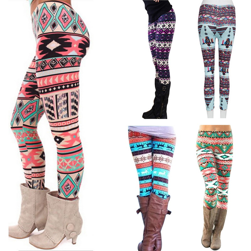 Women Snowflake Christmas Deer Print Leggings Girl Winter Legging Bottoms  Clothing Jeggings Large Size