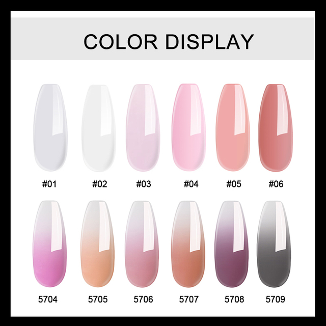 MIZHSE Poly Gel Kit 6W UV LED Lamp Gel Varnish Nail Polish Art Kit Quick Building For Finger Nails Extensions Jelly Gel Polygel 2