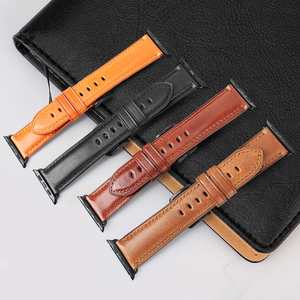 Image 4 - MAIKES Genuine Leather Watch Band For Apple Watch 44mm 42mm 40mm 38mm Series 4/3/2/1 Men & Women iWatch Strap Watchband