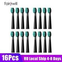 Fairywill – têtes de rechange pour brosses à dents électriques, 4 pièces 8 pièces 16 pièces pour FW-507 FW-508 FW-917