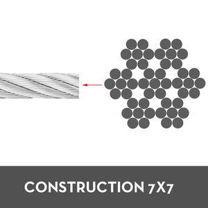 Image 4 - VEVOR 304 кабель из нержавеющей стали 0,18 дюймов 7X19 стальная проволочная веревка 100 футов стальной кабель для перил настил DIY балюстрада