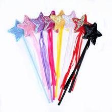 1 pçs estrela varinha de fadas vara mágica menina festa princesa favores presente de aniversário carnaval decoração de casamento chá de bebê presente de páscoa