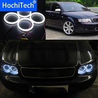 HochiTech Eexcellent milk white cotton cover SMD cotton angel eyes halo ring kit daytime running light DRL for audi A4 B6 00 06