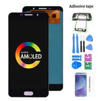 Original Super Amoled For Samsung Galaxy A7 2016 A710 A710F LCD Display Touch Screen Digitizer Assembly