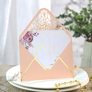 Image 4 - 15pcs/lot Luxury Hot Stamping Envelopes Hollow Invitation Envelopes for Party, Wedding, Business, Opening Activity 175mm X 125mm