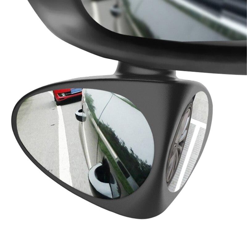 2 w 1 samochodowe lusterko martwego pola lusterko szerokokątne 360 obrót regulowany wypukły widok z tyłu odbicie lustrzane przednie koło Auto lusterko samochodowe