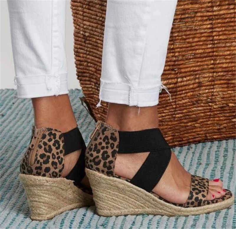 Platformu takozlar sandalet kadın yaz gladyatör rahat ayakkabılar bayanlar yüksek topuklu sandalet açık plaj mujer artı boyutu 35-43 s129