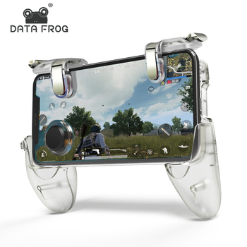 DATA FROG Game Controller Gamepad For PUBG L1R1 Shooter Trigger Fire Button Gamepad Joystick For iPhone Android Mobile Phone pubg mobile gamepad pubg controller for iphone android ios for phone l1r1 grip with joystick trigger l1r1 pubg fire buttons