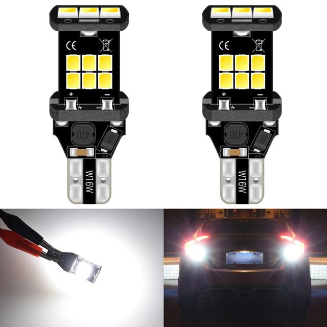 2Pcs T15 W16W Led Car Reverse Light Bulb for Nissan Juke 2018 2011 Pathfinder Hyundai Sonata Tucson Accent ix35 i20 i40 912 Lamp