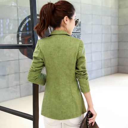 Spring Autumn New Women Blazers And Jackets Casual Women Suits Long Sleeve Slim Fit Solid Coat Lady Office Plus Size LX40