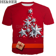 3D Christmas print fashion T-shirt