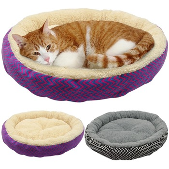 Round Foldable Bed For Cat